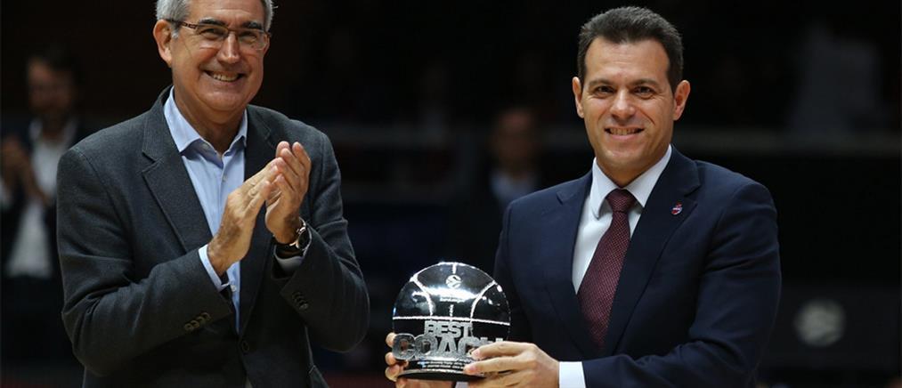 Euroleague: Ο Ιτούδης πήρε το βραβείο του κορυφαίου προπονητή (βίντεο)