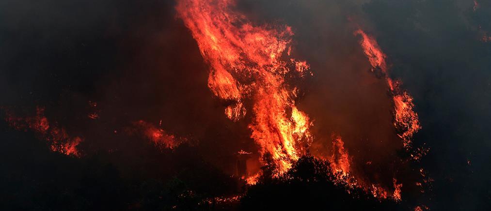 Μεγάλη πυρκαγιά στο όρος Αδέρες