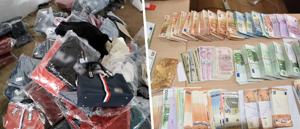 """Αστυνομικός και τελωνειακοί σε κυκλώματα εισαγωγής """"μαϊμού"""" προϊόντων (εικόνες)"""