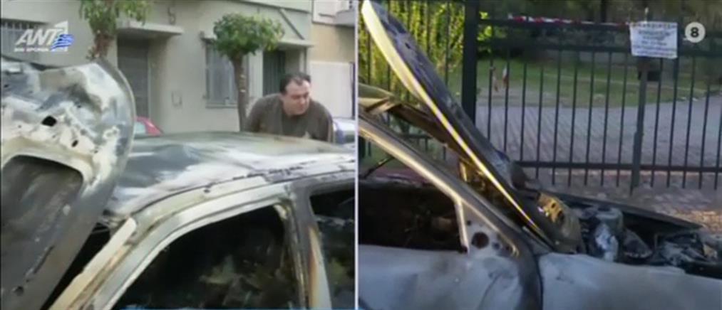 Εμπρησμοί αυτοκινήτων στην Αττική (εικόνες)