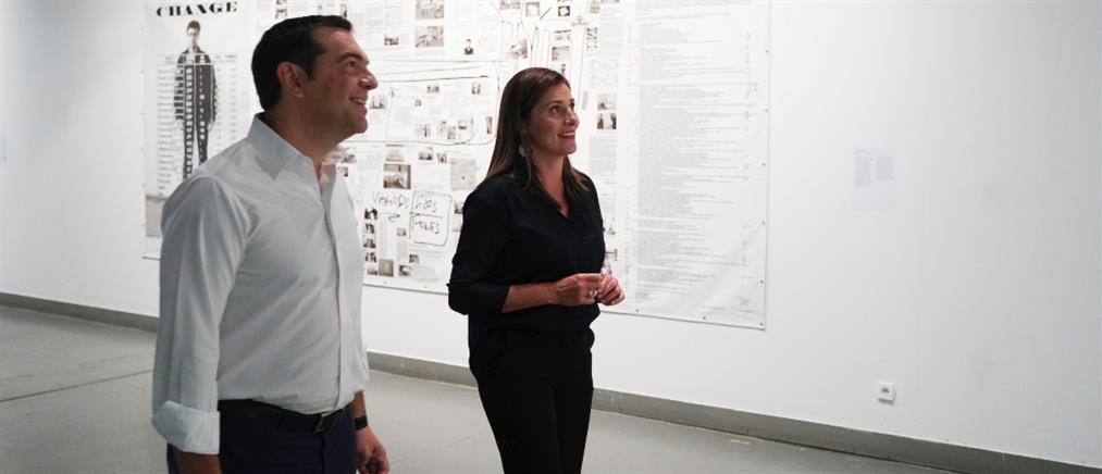 Τσίπρας και Μπαζιάνα επισκέφτηκαν εκθέσεις στο MOMus (εικόνες)