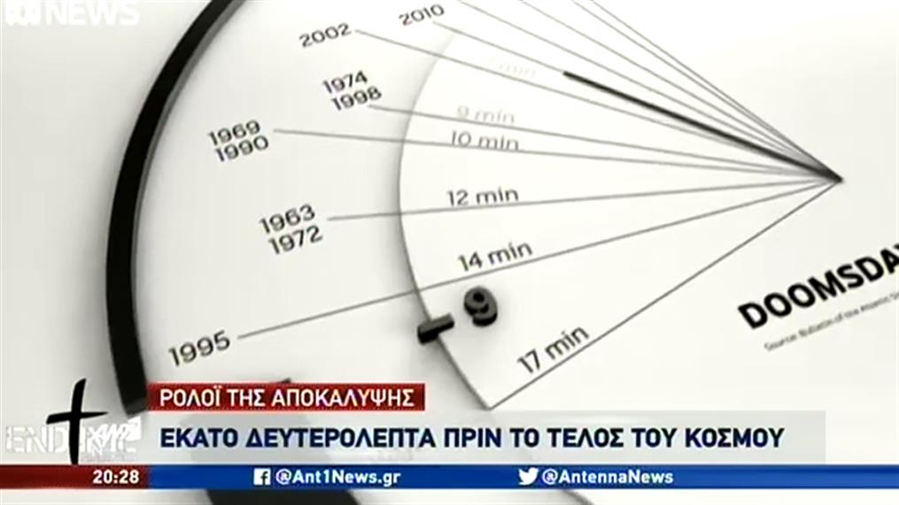 """""""Ρολόι της Αποκάλυψης"""": 100 δευτερόλεπτα πριν το τέλος του κόσμου"""