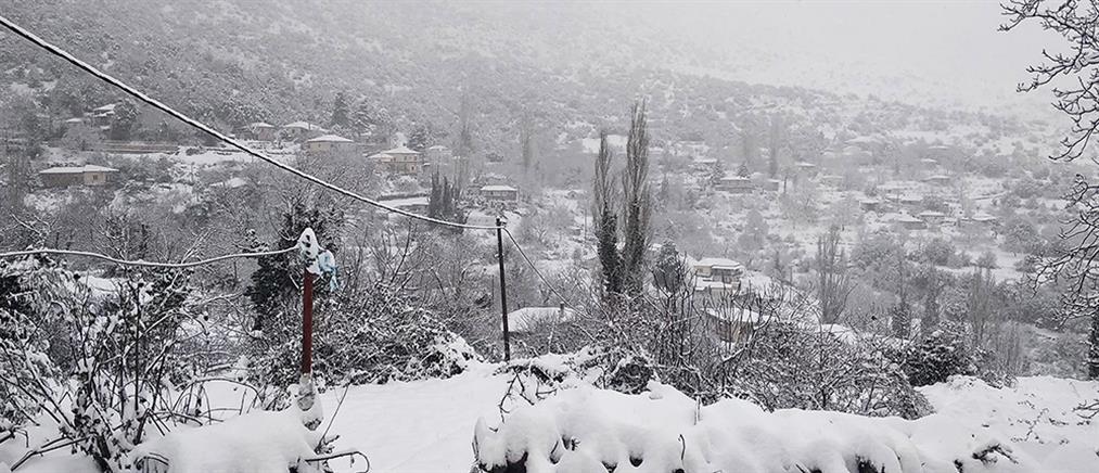 """Κακοκαιρία """"Λέανδρος"""": Στο 30% η χιονοκάλυψη στην Ελλάδα (εικόνες)"""