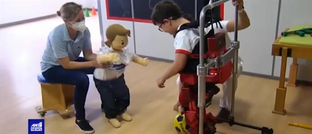 Σπονδυλωτός εξωσκελετός για παιδιά (βίντεο)