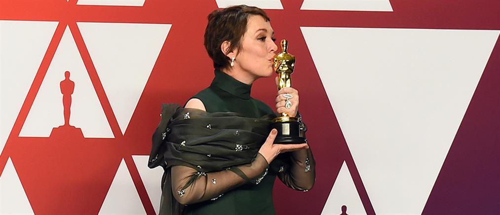 """Όσκαρ Α' Γυναικείου Ρόλου στην Ολίβια Κόλμαν για το """"The Favourite"""" του Λάνθιμου"""