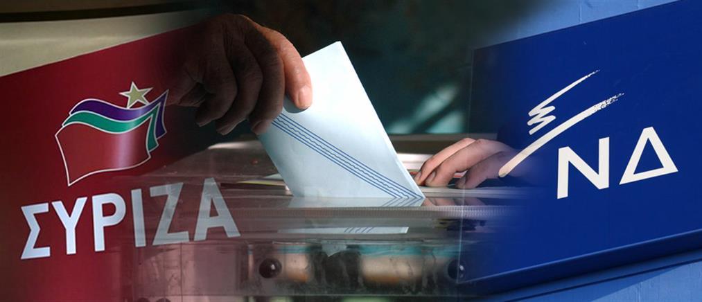 """Διευρύνεται η """"ψαλίδα"""" ΝΔ-ΣΥΡΙΖΑ στις δημοσκοπήσεις"""