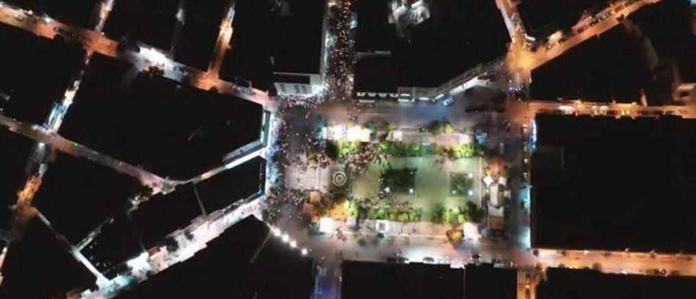 Εντυπωσιακό βίντεο: Η συνάντηση Επιταφίων από ψηλά