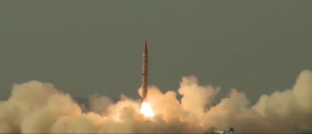 Δοκιμαστική εκτόξευση βαλλιστικού πυραύλου από το Πακιστάν (βίντεο)