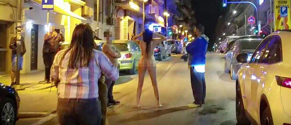 Θεσσαλονίκη: σάλος με γυμνή γυναίκα στο κέντρο της πόλης