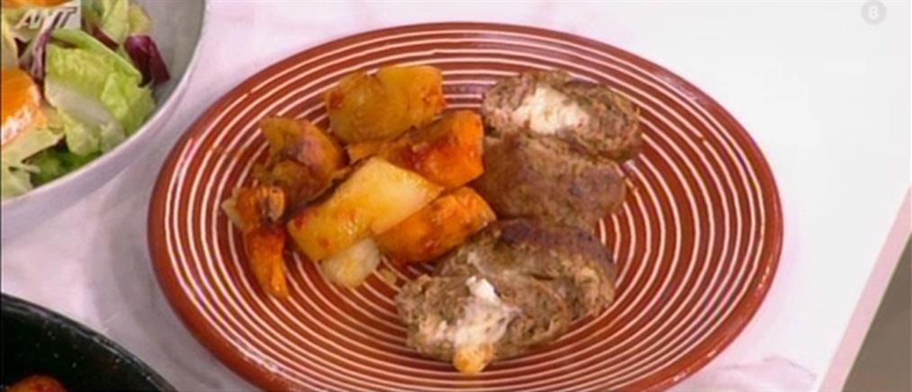 Γεμιστά μπιφτέκια με πατάτες από τον Βασίλη Καλλίδη