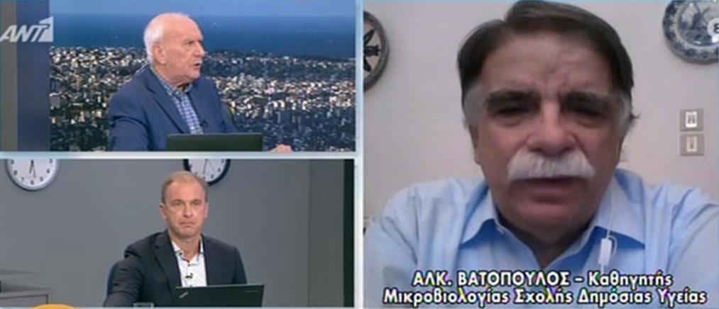 """Βατόπουλος – κορονοϊός: Οποιαδήποτε περιοχή μπορεί ανά πάσα στιγμή να """"κοκκινίσει"""""""