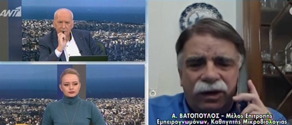 Βατόπουλος στον ΑΝΤ1: Πρώτα ο εμβολιασμός και μετά το άνοιγμα όλων των καταστημάτων (βίντεο)