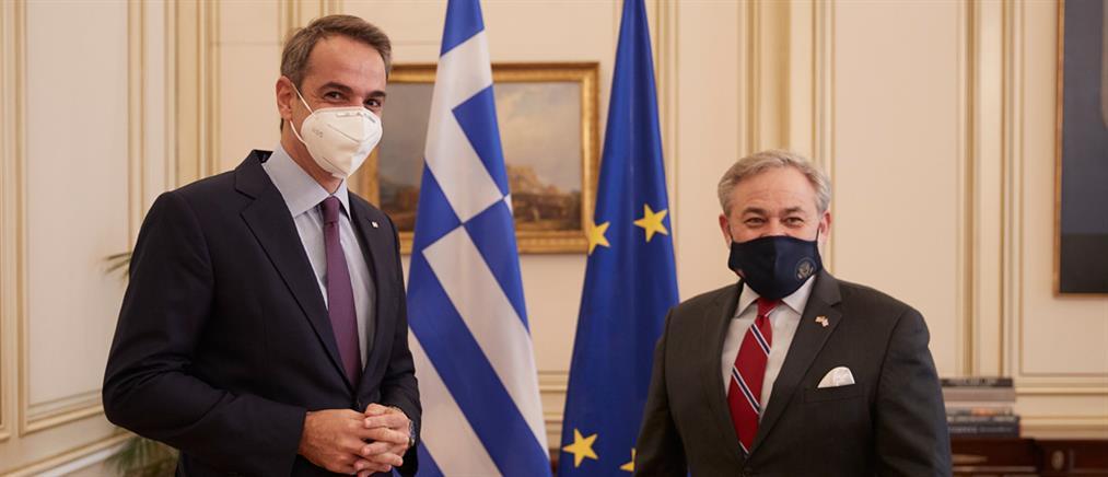 Μητσοτάκης - Brouillette: συνάντηση για τις αμερικανικές επενδύσεις στην Ελλάδα