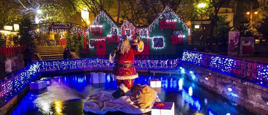 """""""Μύρισε"""" Χριστούγεννα στη Δράμα με το στήσιμο της Ονειρούπολης (φωτό)"""