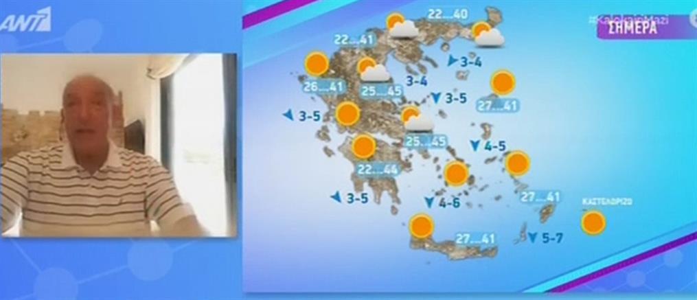 Καύσωνας – Αρνιακός: συνεχίζονται και σήμερα οι ακραίες θερμοκρασίες (βίντεο)