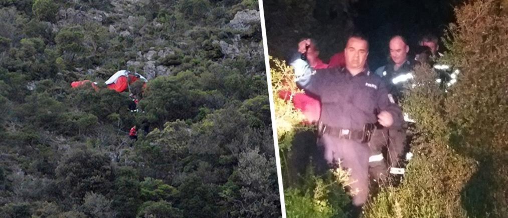 Νεκρός ο αεροπτεριστής που έπεσε σε χαράδρα 150 μέτρων