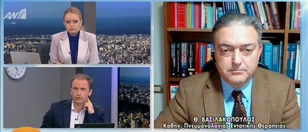Βασιλακόπουλος: Κάτω από το 4% η θετικότητα των τεστ για κορονοϊό