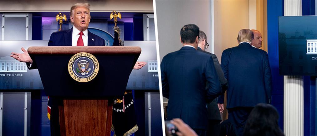 Διακόπηκε η συνέντευξη Τύπου του Τραμπ