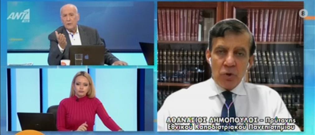 """Κορονοϊός - Δημόπουλος: """"Καμπανάκι"""" για τα χαμηλά ποσοστά εμβολιασμού"""
