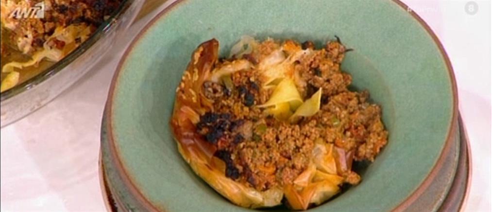 Φωλιές με ζυμαρικά και κιμά από τον Βασίλη Καλλίδη