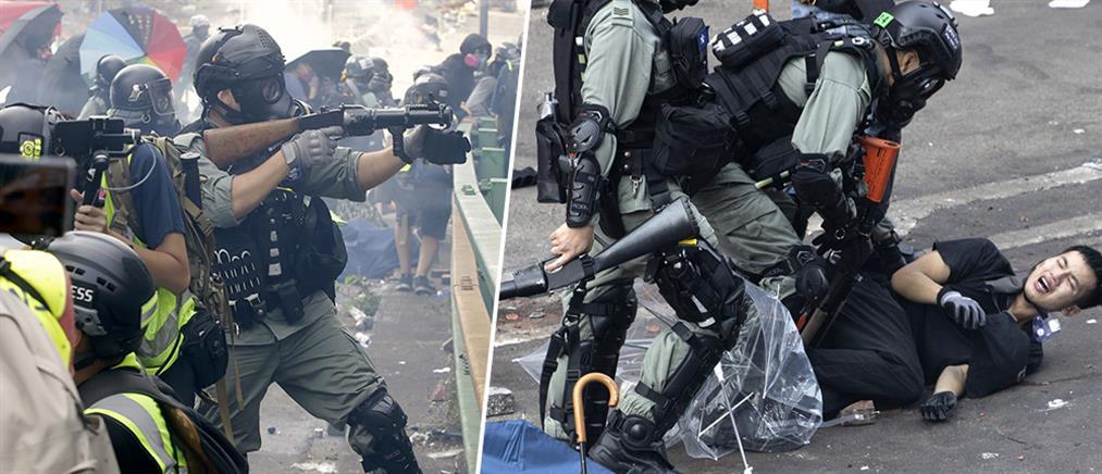 Χονγκ Κονγκ: Σφαίρες, μάχες σώμα με σώμα και εικόνες πολέμου στο Πολυτεχνείο