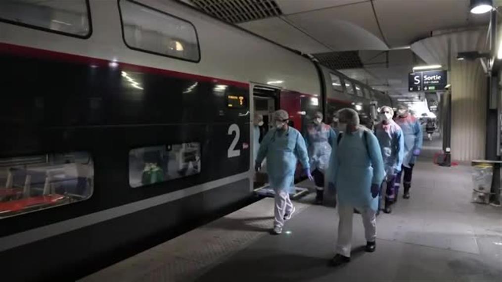 Η Γαλλία μετέτρεψε δύο τρένα σε νοσοκομεία