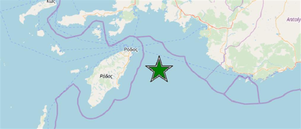 Ισχυρός σεισμός στη Ρόδο