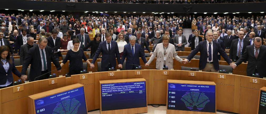 Το Ευρωκοινοβούλιο επικύρωσε την συμφωνία για το Brexit (εικόνες)
