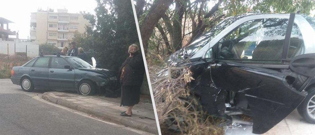 Τροχαίο ατύχημα στο Μαρκόπουλο (φωτο)