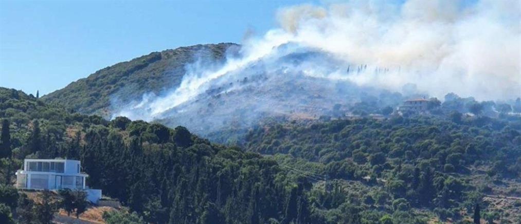 Νέα φωτιά στη Ζάκυνθο (εικόνες)