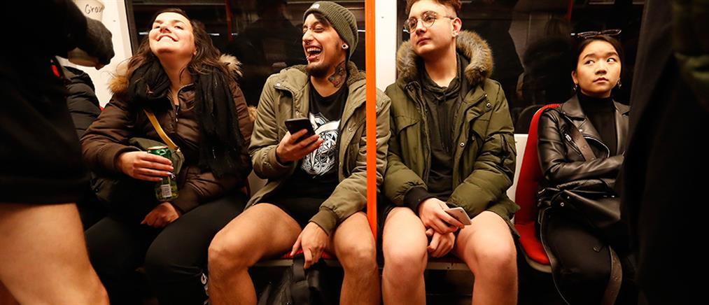 """""""Ημέρα Χωρίς Παντελόνι στο Μετρό"""" της Πράγας (βίντεο)"""