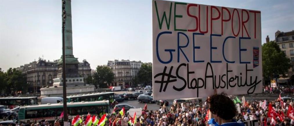 """Χιλιάδες Γάλλοι προέτρεψαν τους Έλληνες να πουν """"Όχι"""""""