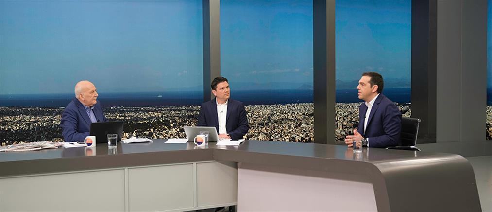 """Τσίπρας στον ΑΝΤ1: ζητώ εντολή για να κυβερνήσω χωρίς """"δεμένα χέρια"""" (βίντεο)"""