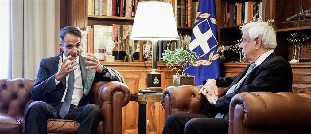 Παρέμβαση Παυλόπουλου για την συμφωνία στο Σκοπιανό ζήτησε ο Μητσοτάκης (εικόνες)