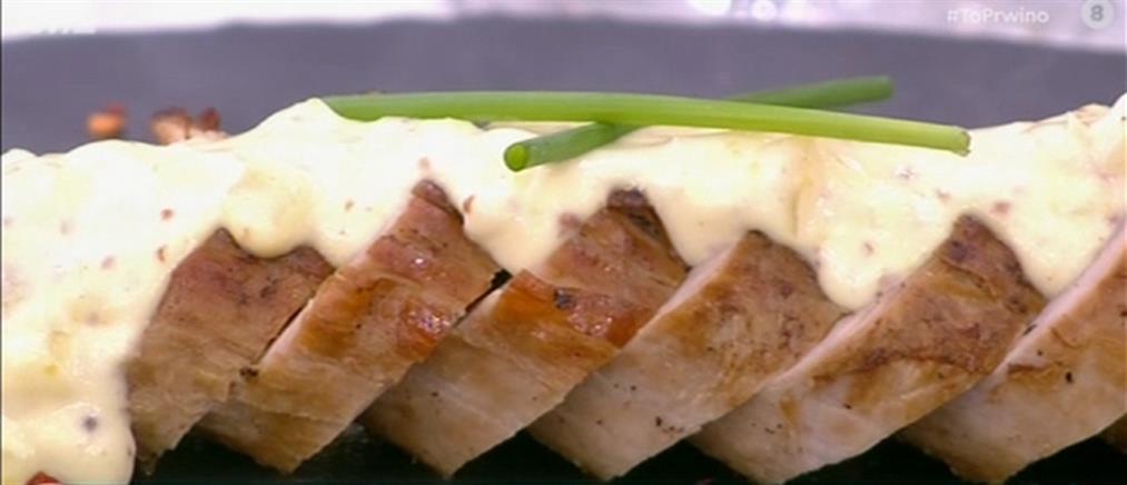 Ψαρονέφρι με σάλτσα μουστάρδας από τον Πέτρο Συρίγο
