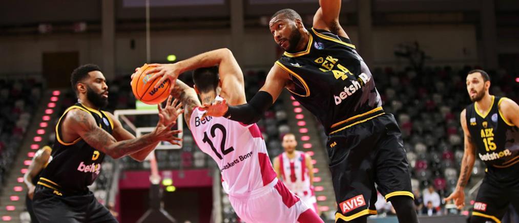 """Basketball Champions League: Πρόκριση της ΑΕΚ στους """"8"""" με νίκη στη Βόννη"""