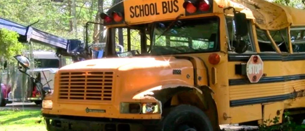 Ανήλικος έκλεψε σχολικό λεωφορείο (εικόνες)