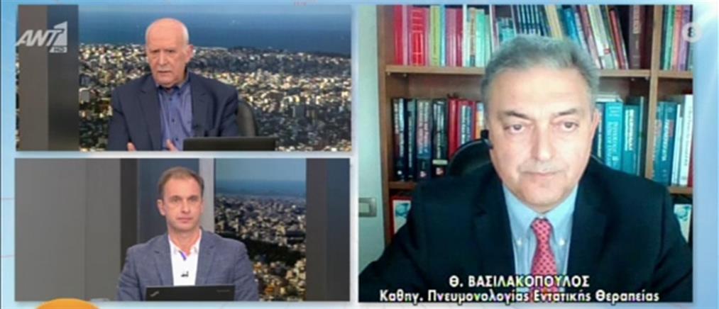 Βασιλακόπουλος στον ΑΝΤ1: γιατί το lockdown δεν απέδωσε τα αναμενόμενα (βίντεο)