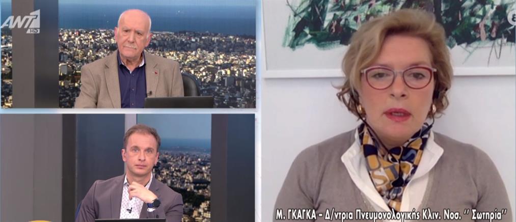 Κορονοϊός - Γκάγκα στον ΑΝΤ1: Μειώθηκε ο μέσος όρος ηλικίας των διασωληνωμένων (βίντεο)