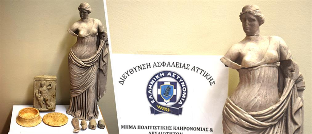 """Η Αφροδίτη σώθηκε από τα """"νύχια"""" αρχαιοκάπηλων – Την είχαν κλέψει από το Μουσείο Σαντορίνης (εικόνες)"""