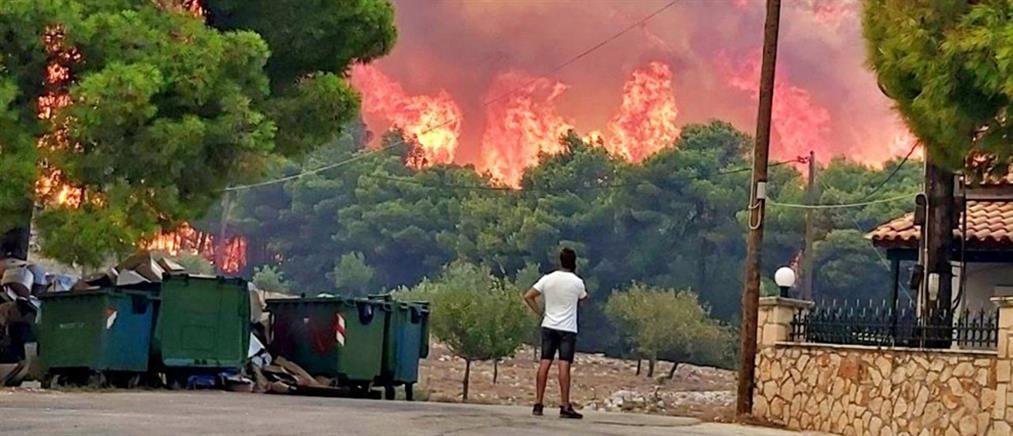 Η φωτιά στη Ζάκυνθο από τον δορυφόρο (εικόνα)
