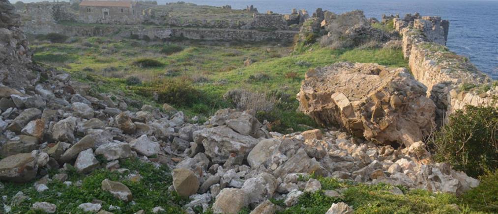 Μεθώνη: Κατάρρευση τμήματος του Πύργου στο κάστρο (εικόνες)