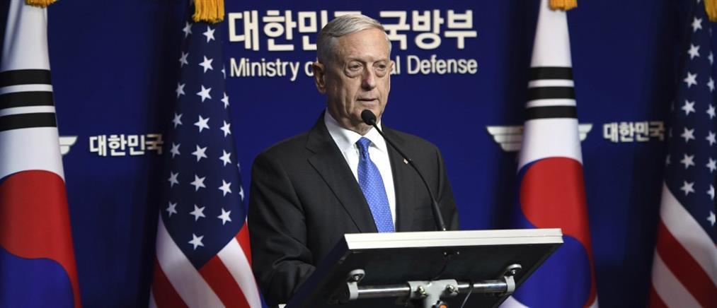 """Μάτις: Οι ΗΠΑ δεν θα αποδεχθούν ποτέ μία """"πυρηνική"""" Βόρεια Κορέα"""