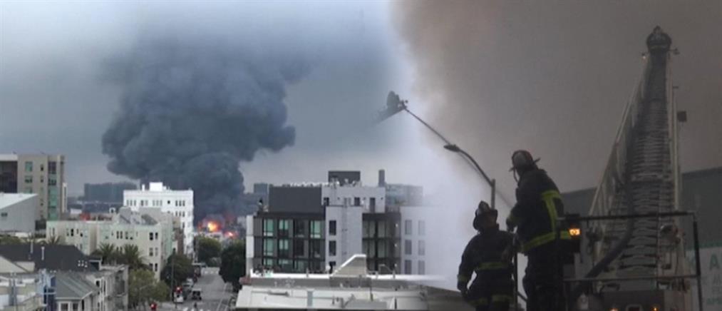 Πυρκαγιά στο Σαν Φρανσίσκο: Στις φλόγες παραδόθηκαν καταστήματα (βίντεο)
