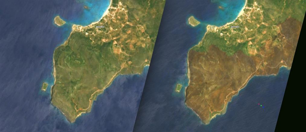 Θλιβερές εικόνες: Δορυφόρος αποκαλύπτει την καταστροφή στην Ελαφόνησο