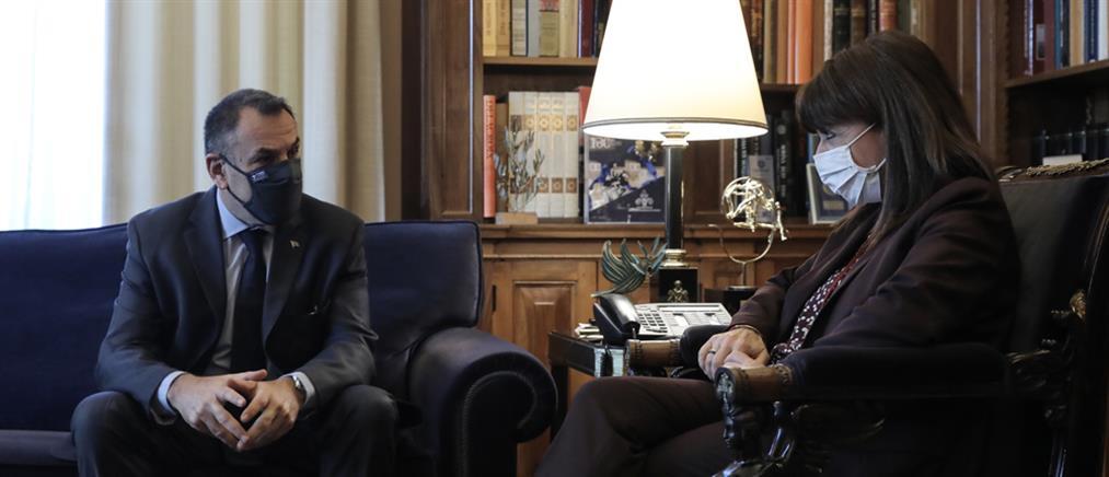 Συνάντηση Σακελλαροπούλου - Παναγιωτόπουλου