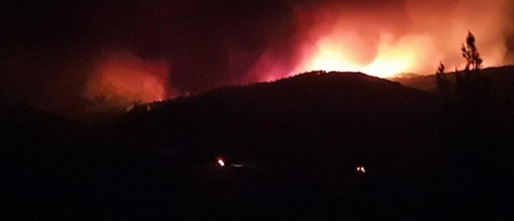 Αλεξανδρούπολη: Συνεχίζεται η μάχη με τις φλόγες