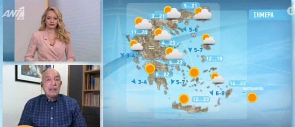 Καιρός - Τάσος Αρνιακός: με ηλιοφάνεια η Μεγάλη Εβδομάδα (βίντεο)
