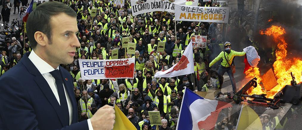 """Με… δημοψήφισμα θα αντιμετωπίσει ο Μακρόν τα """"κίτρινα γιλέκα"""""""