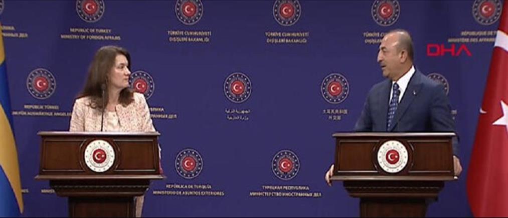 Καυγάς- live του Τσαβούσογλου με την Σουηδή ΥΠΕΞ για την Κύπρο και τη Συρία